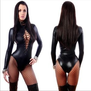Other - 🔥 NEW LEATHER LATEX BODYSUIT LINGERIE 🔥